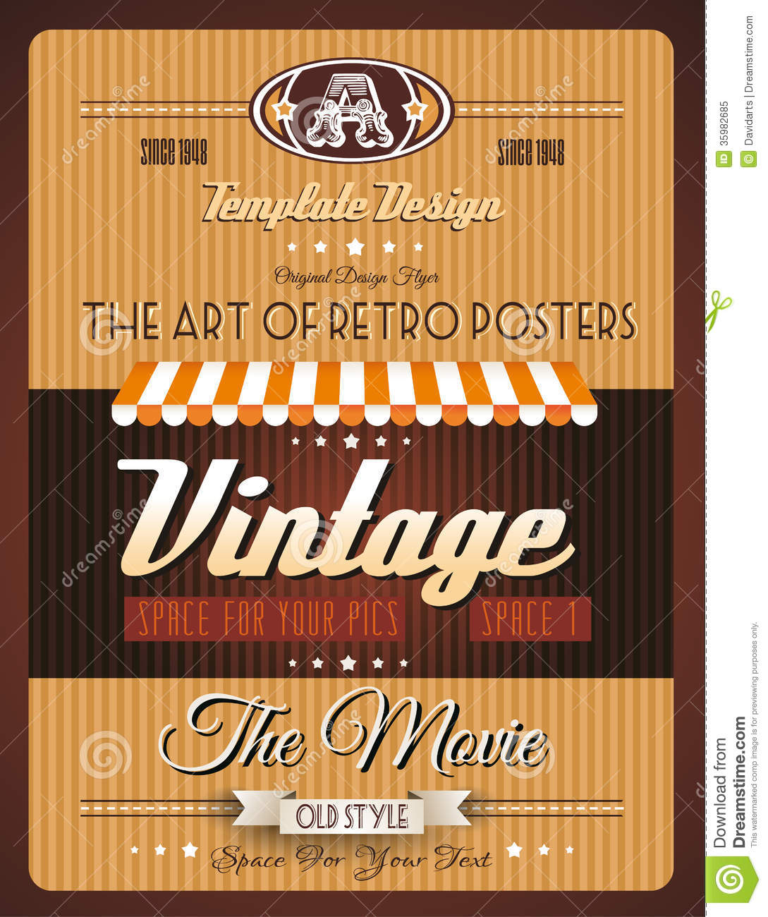 vintage retro template for a lot of purposes stock vector