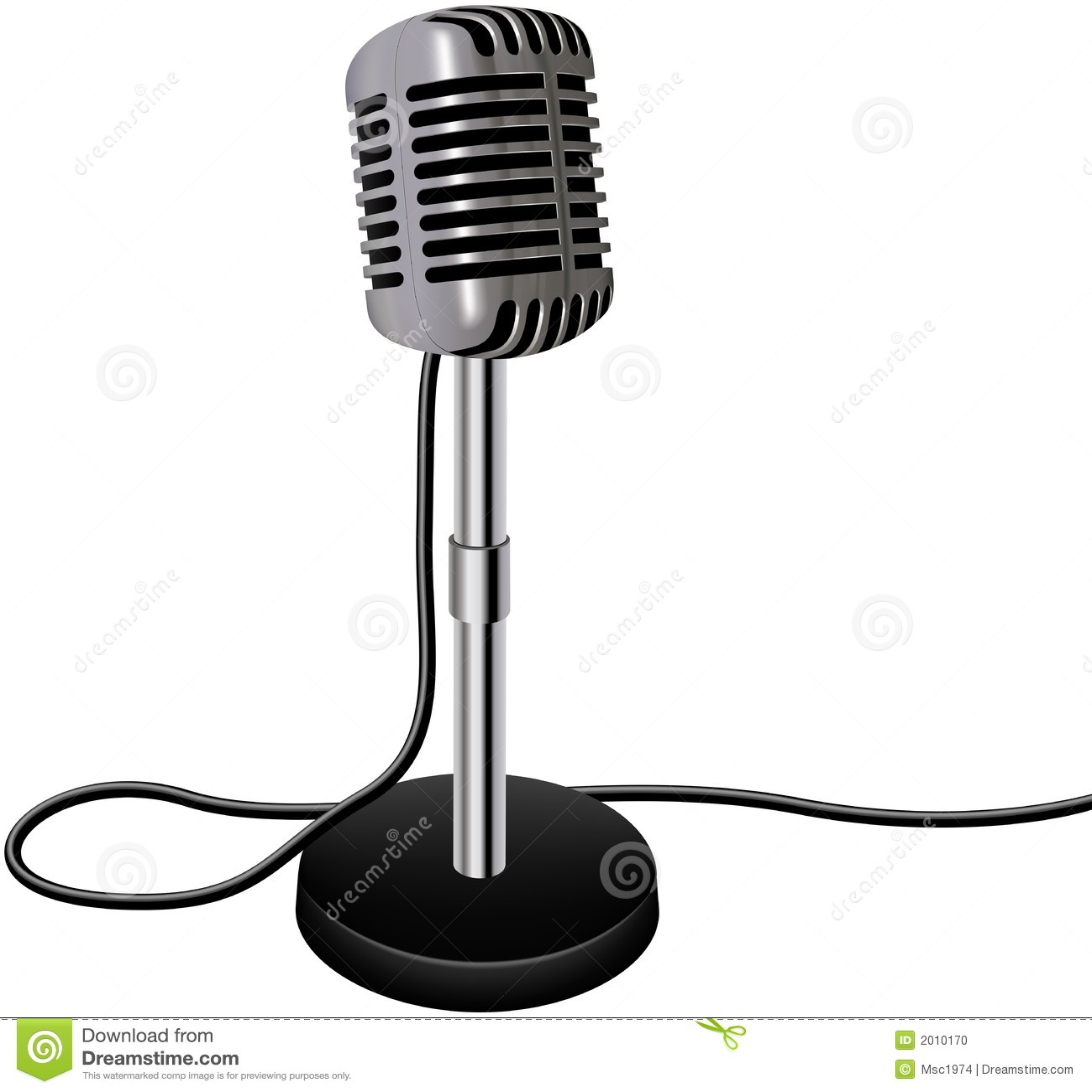 Vintage Retro Vector Microphone Stock Photo - Image: 2010170
