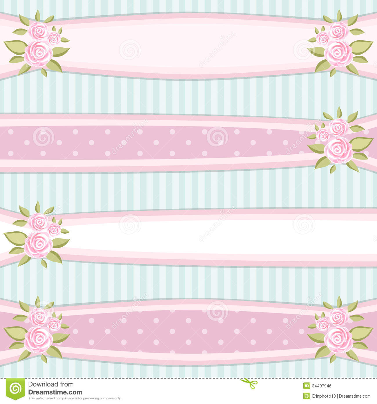 Vintage Ribbons Illustration 34497946