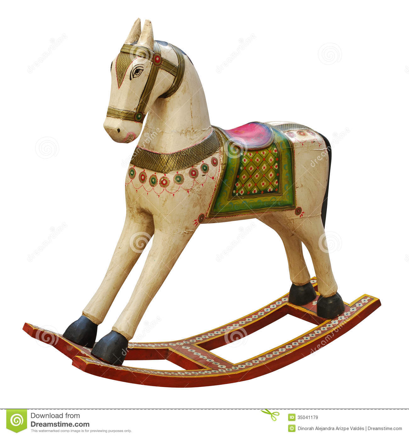 Used Toys Website : Vintage riding horse stock image of artistic wood