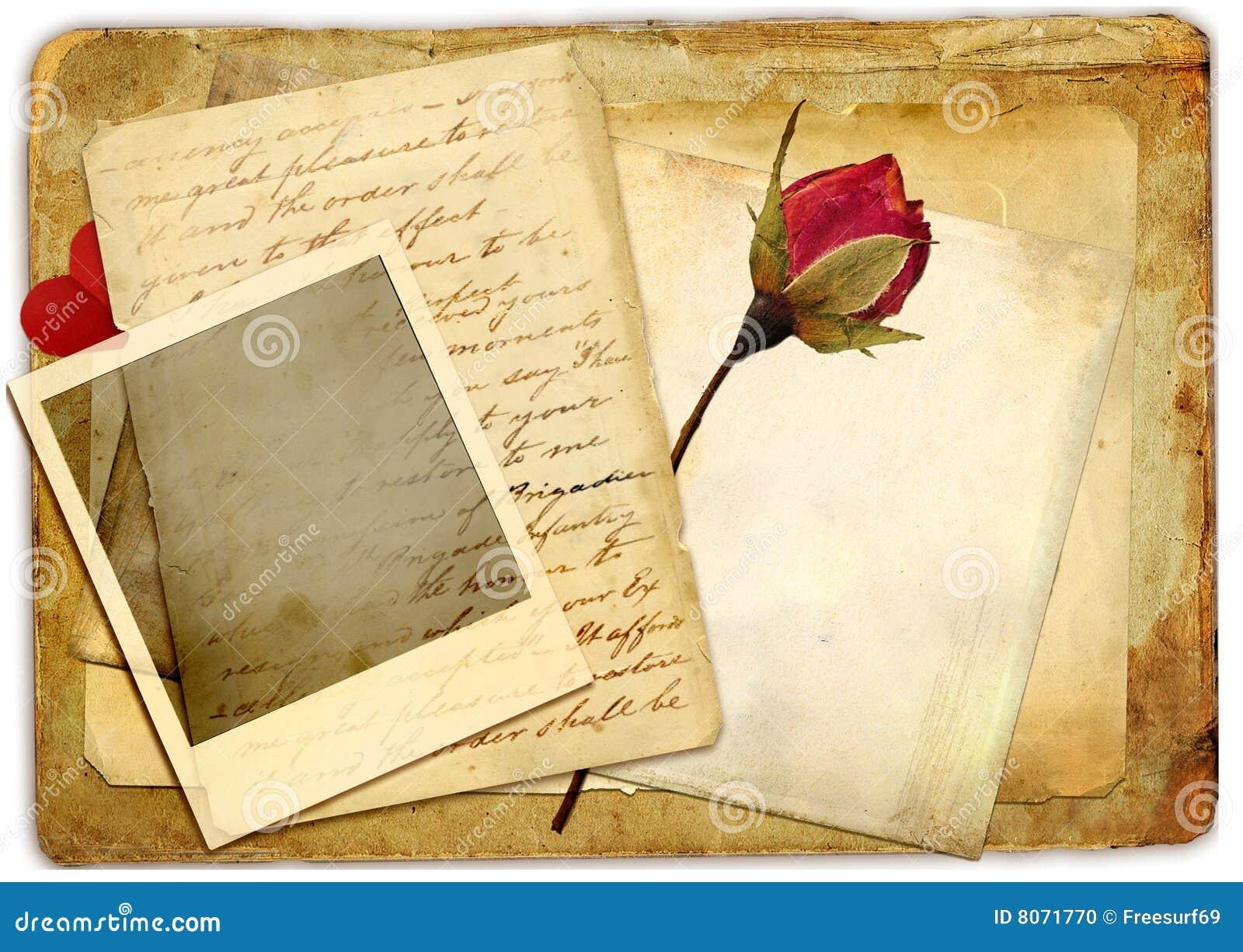 vintage romance stock photo