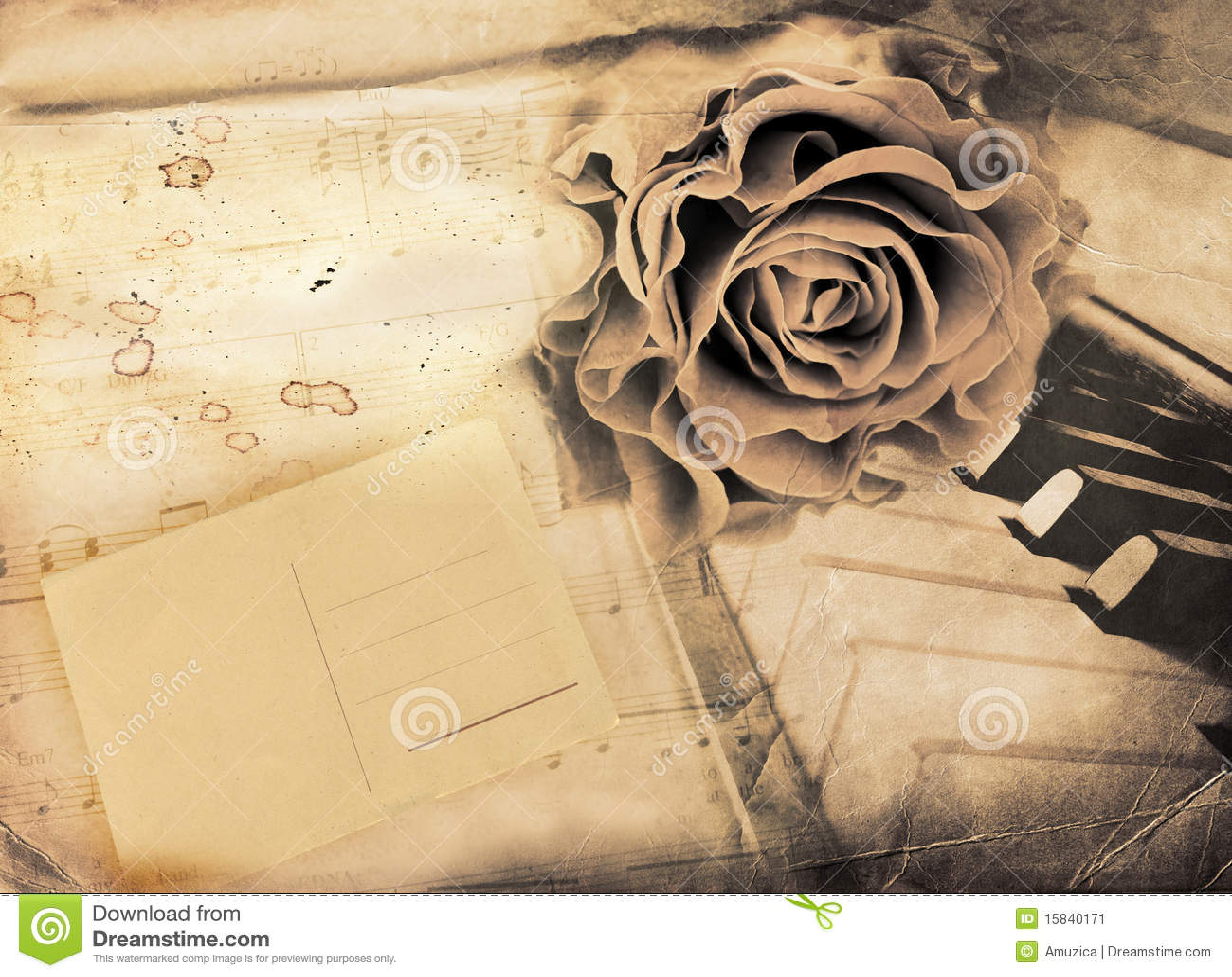 Vintage Romantic Background Stock Image Image 15840171