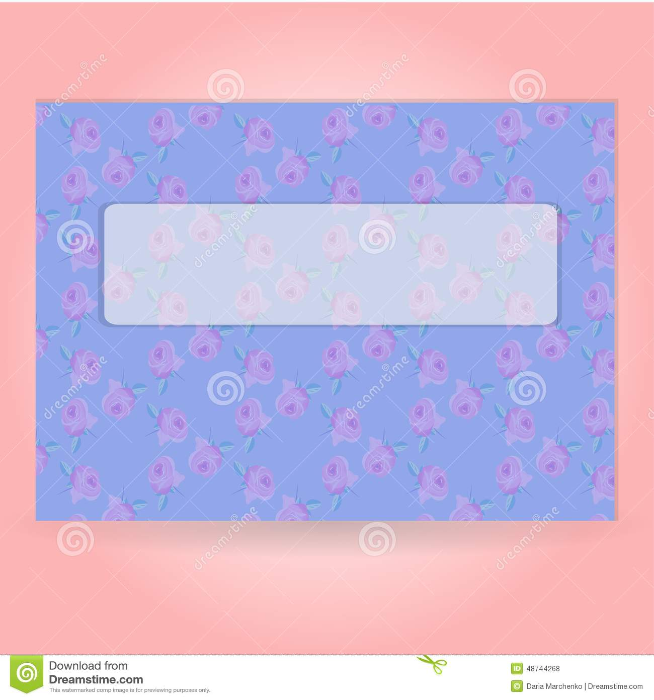 Vintage Romantic Letter Template Stock Vector - Illustration of