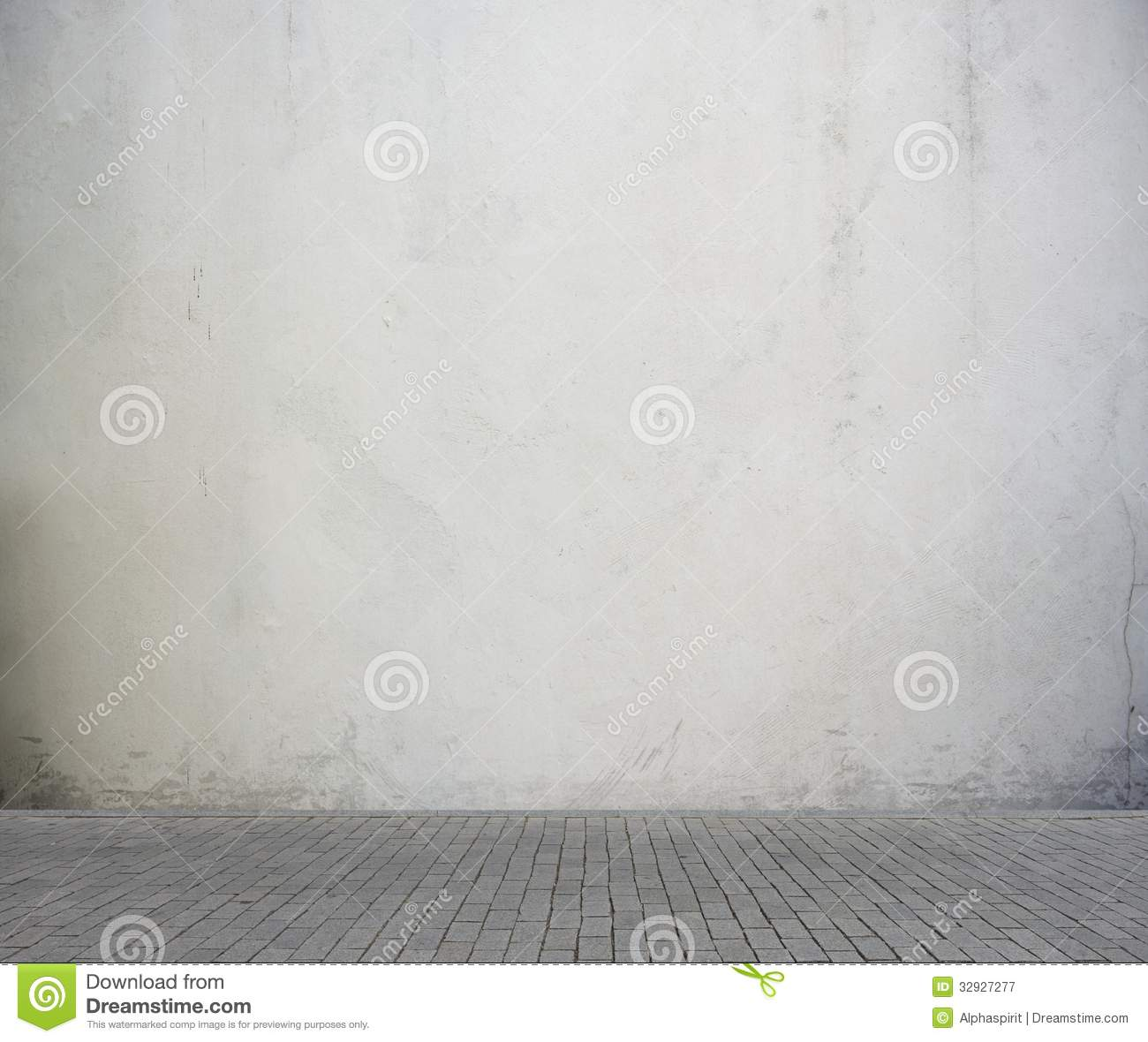 Vintage Room Background Stock Image. Image Of Gray