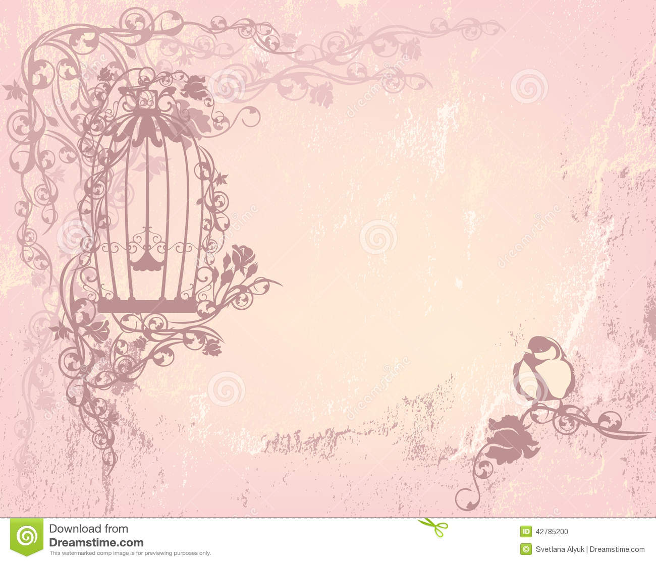 vintage rose garden stock vector image 42785200. Black Bedroom Furniture Sets. Home Design Ideas