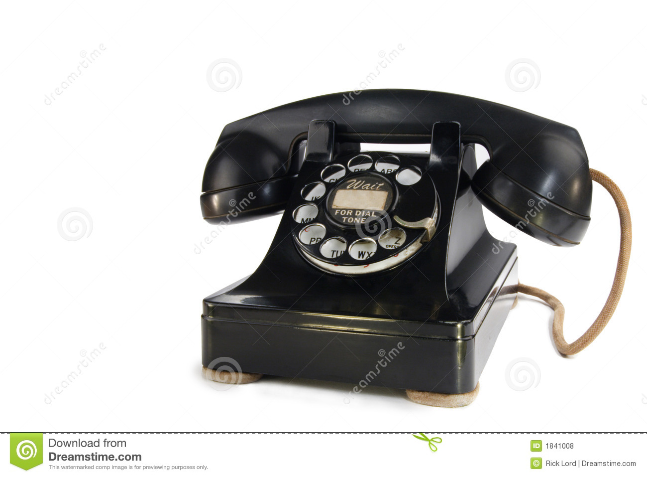 Vintage Rotary Phone stock photo  Image of letters, dial