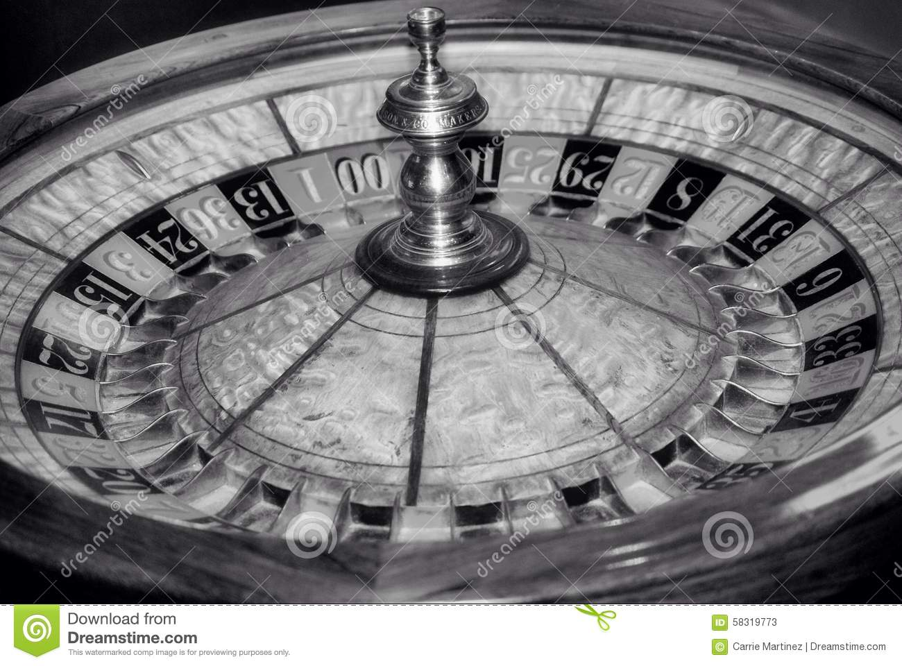 vintage roulette wheel stock photo image 58319773. Black Bedroom Furniture Sets. Home Design Ideas