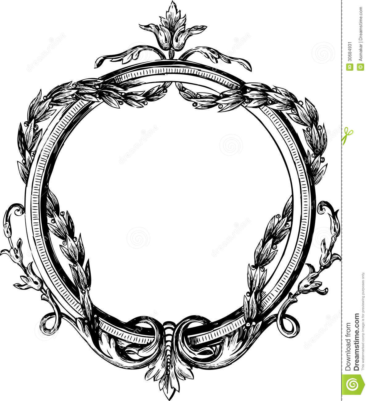 Vintage Round Frame Stock Vector Illustration Of White