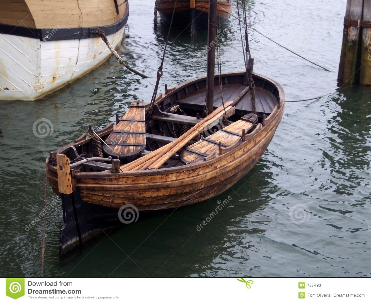 Vintage Row Boat. Stock Photos - Image: 787493