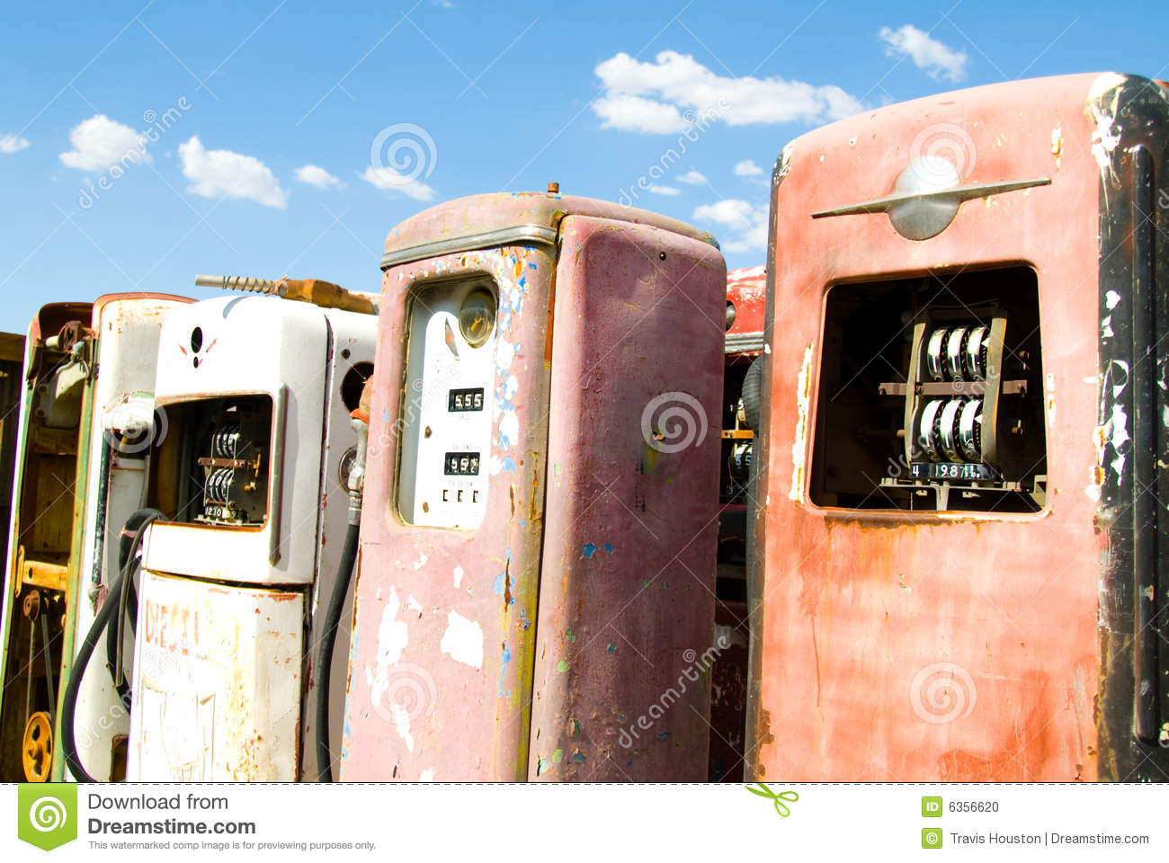 Vintage Rusted Gas Pumps