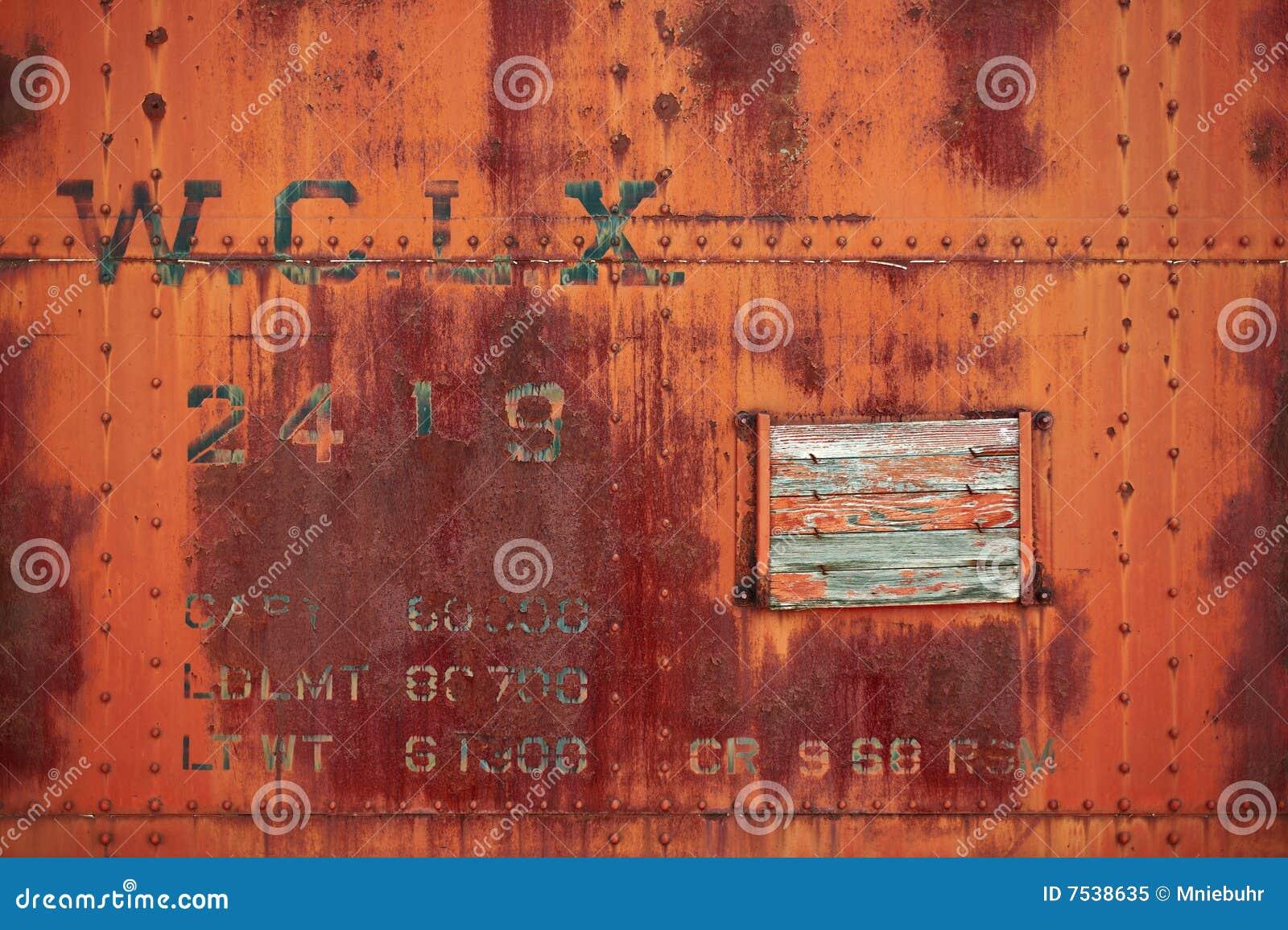 Vintage rusty industrial steel plate riveted plate