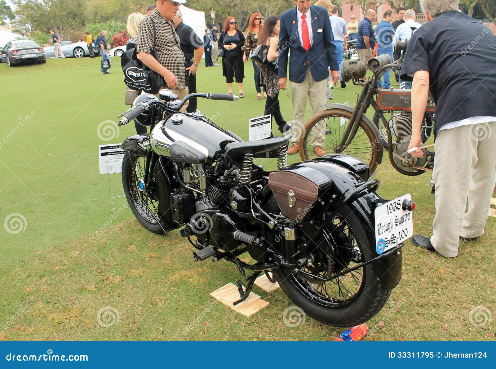 Vintage 1930s British Motorcycle Editorial Image - Image of