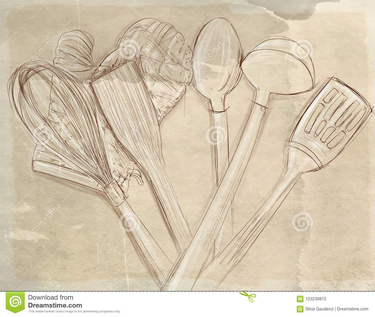 Tools Gives Cooking Stock Illustration Illustration Of Mushrooms