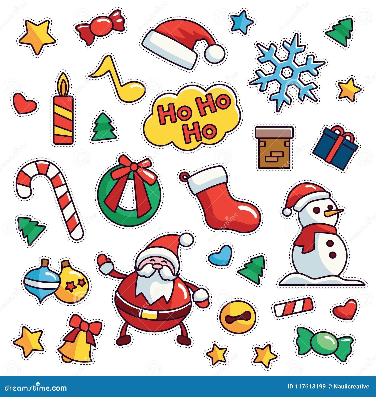Vintage 80s 90s Merrry Christmas Fashion Cartoon Illustration