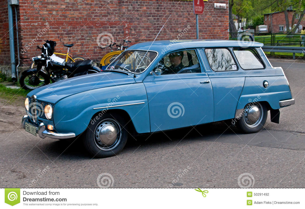 Classic Saab 95 car editorial photography. Image of brand - 50291492