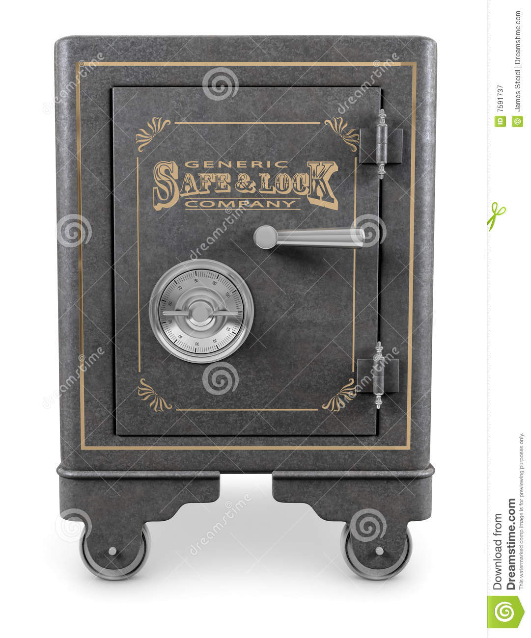 Vintage Safe Stock Illustration Illustration Of Durable