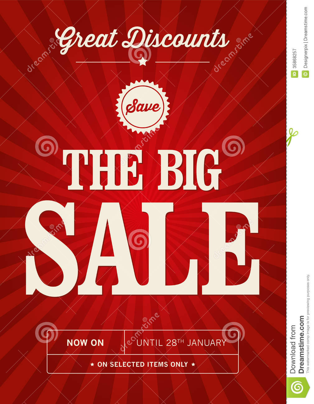 Vintage sale design royalty free stock photography image for Poster prints for sale