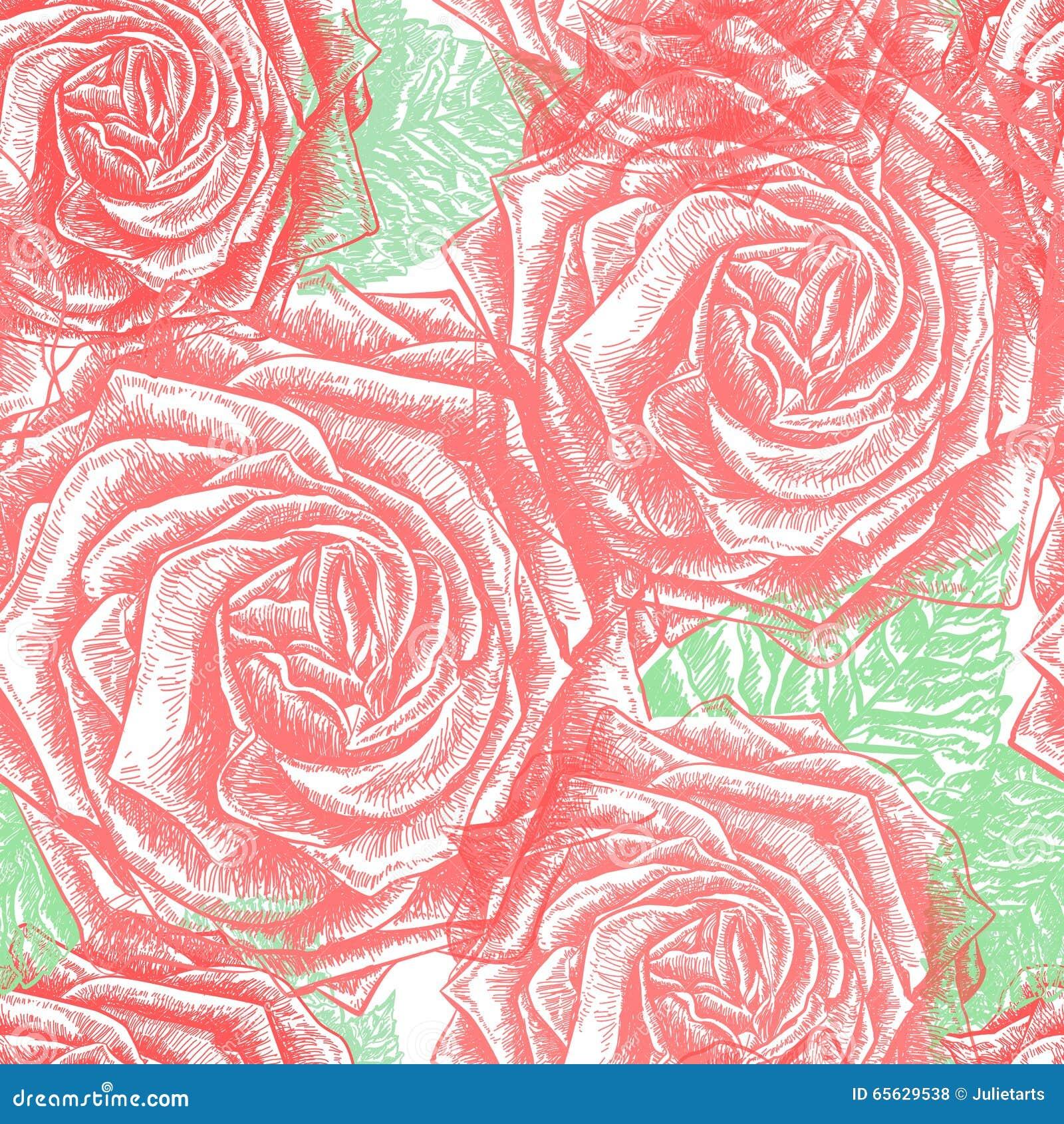 Vintage sans couture Rose Pattern, vecteur, EPS10