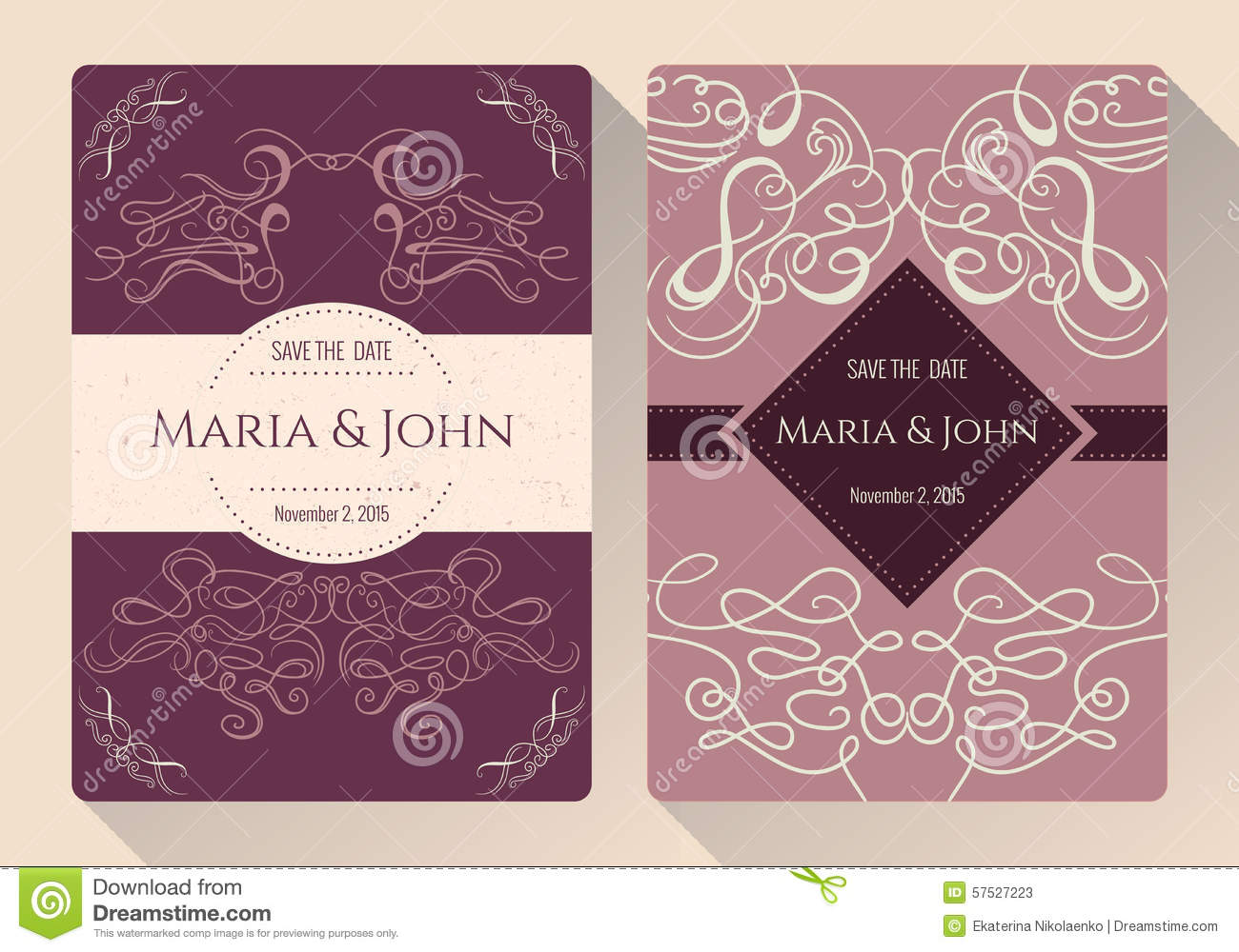 Save the date collection vector illustration Collect and save