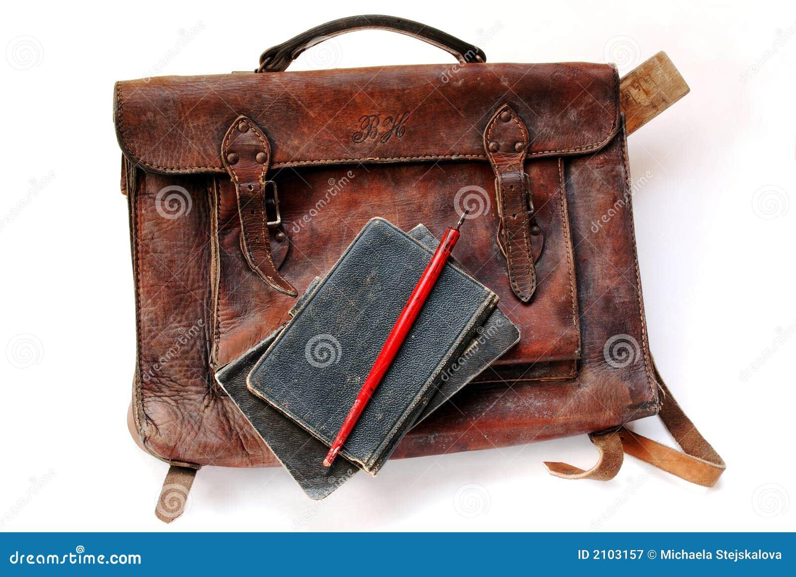 Vintage schoolbag from thirties