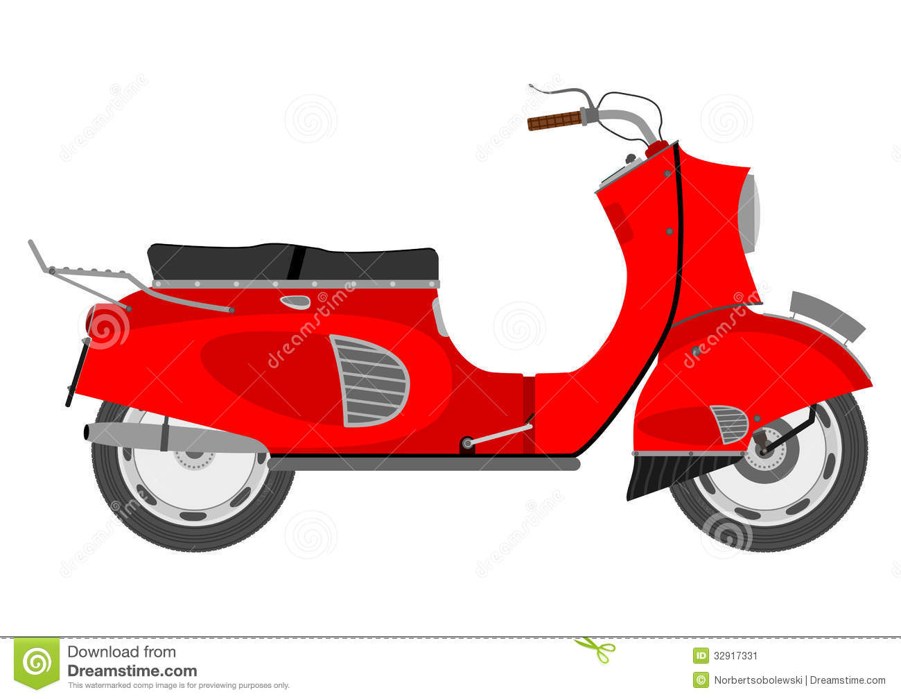 Vintage Scooter Stock Image - Image: 32917331