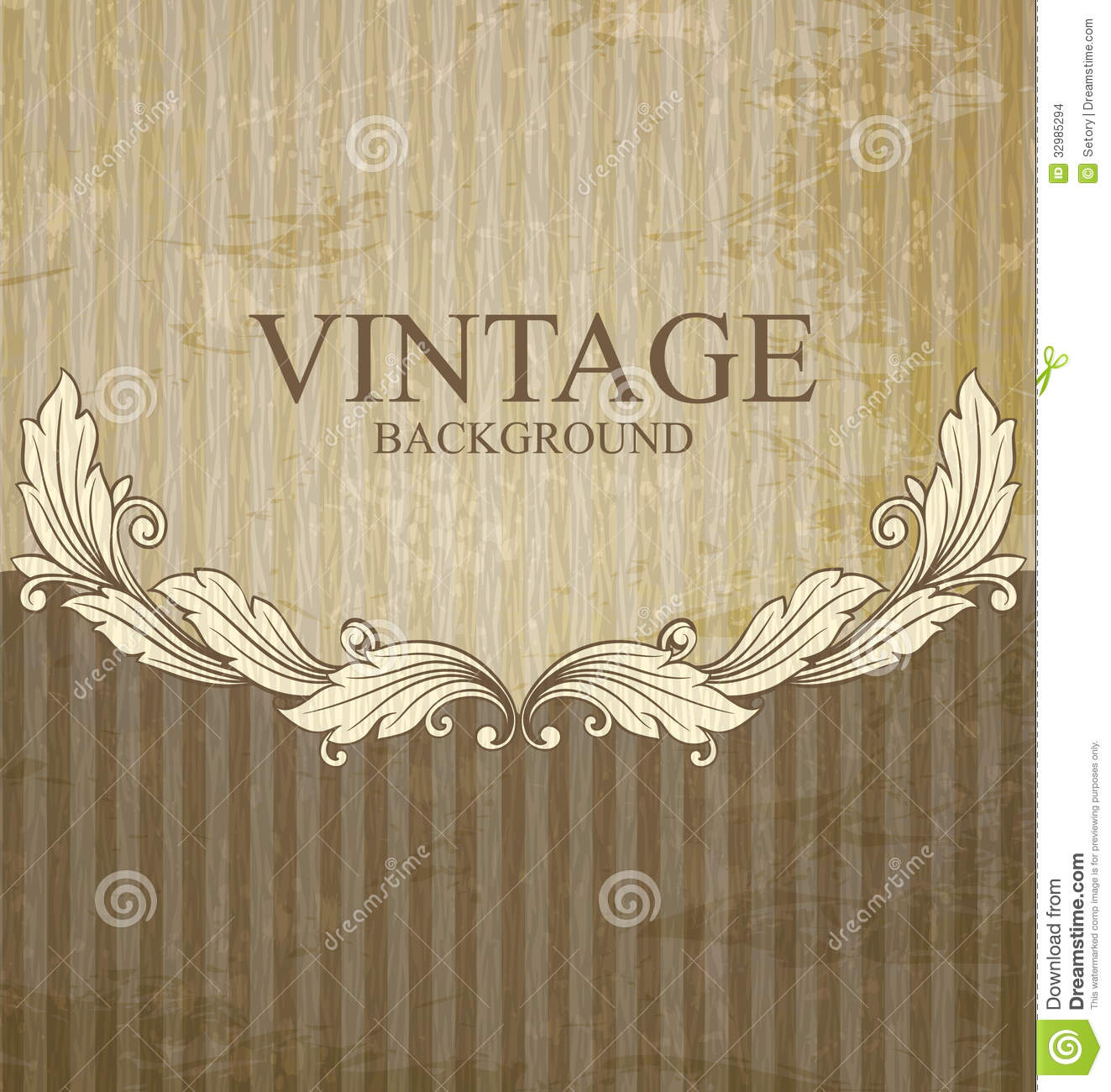 vintage scroll pattern stock vector  image of abstract