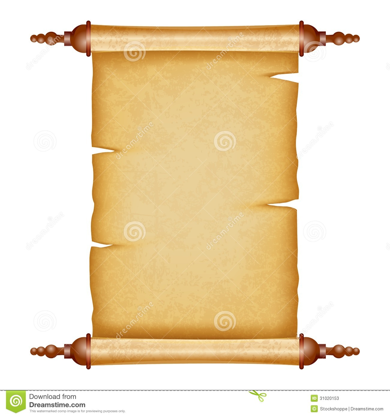 Vintage Scroll stock vector. Image of parchment, dirty ...
