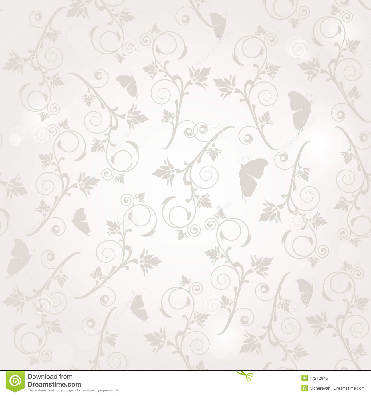 Vintage seamless background with flowers and butte