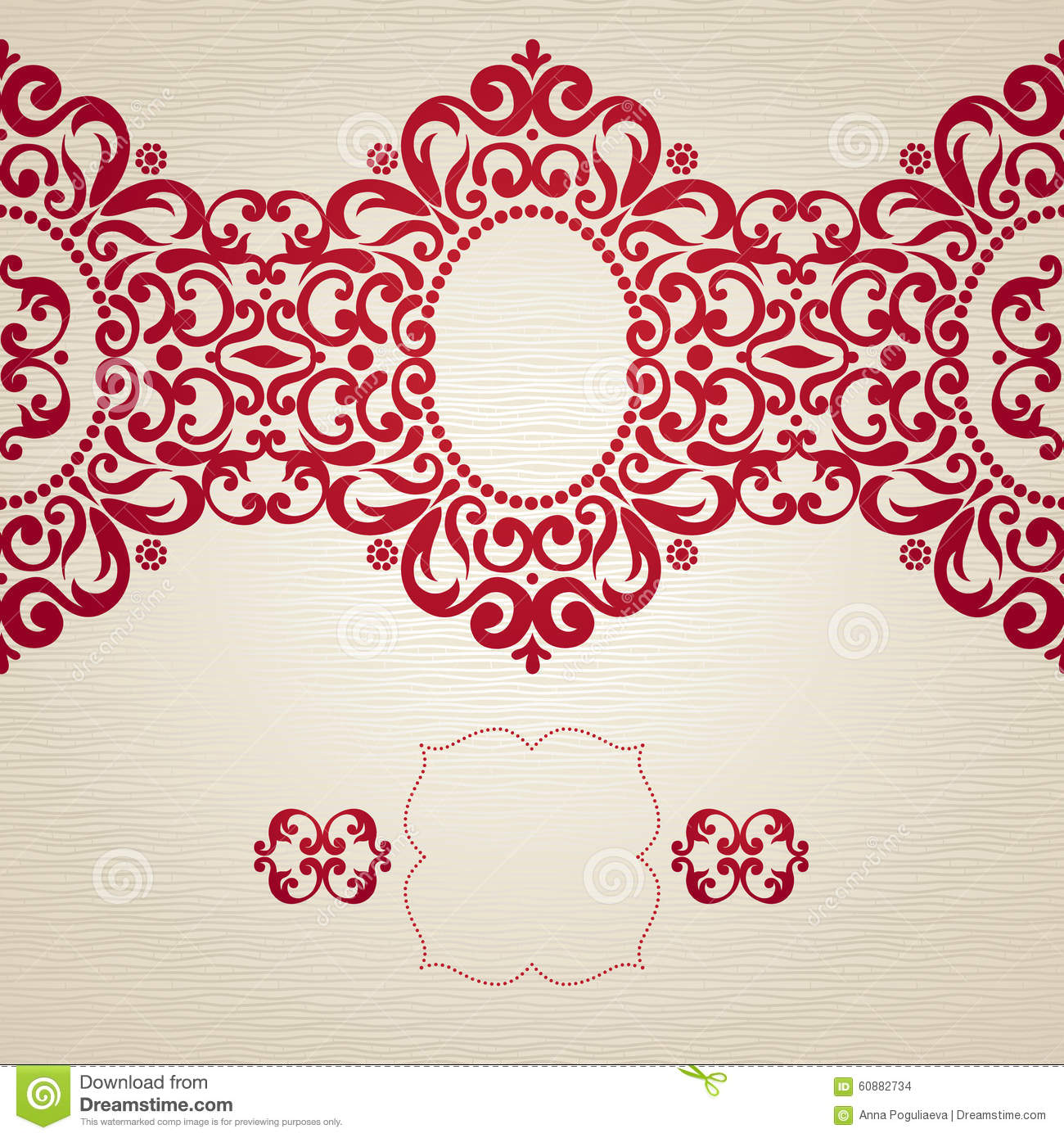 Vintage Seamless Border In Victorian Style. Stock Vector ...