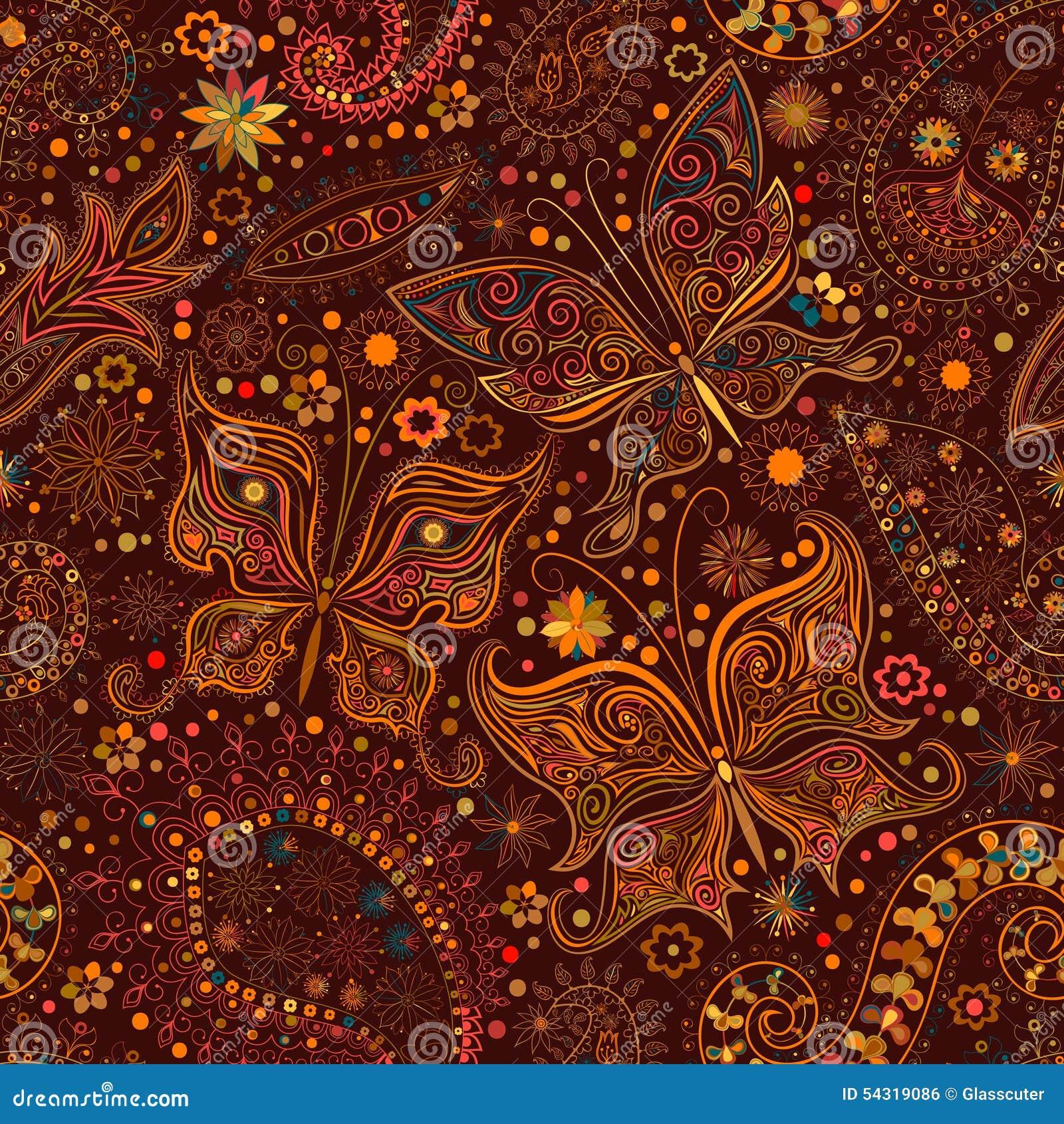 vintage floral motif stock illustration 1107649. Black Bedroom Furniture Sets. Home Design Ideas