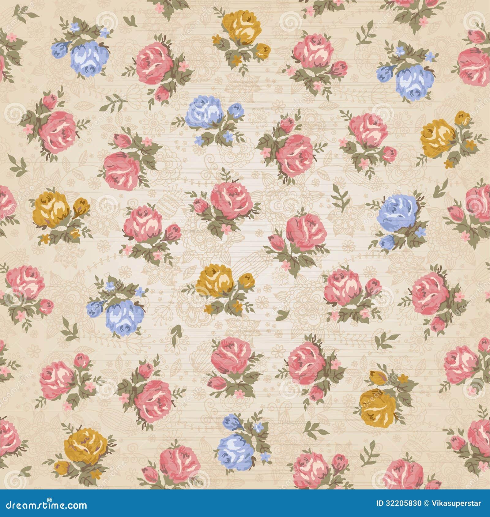 Gold color flower wallpaper