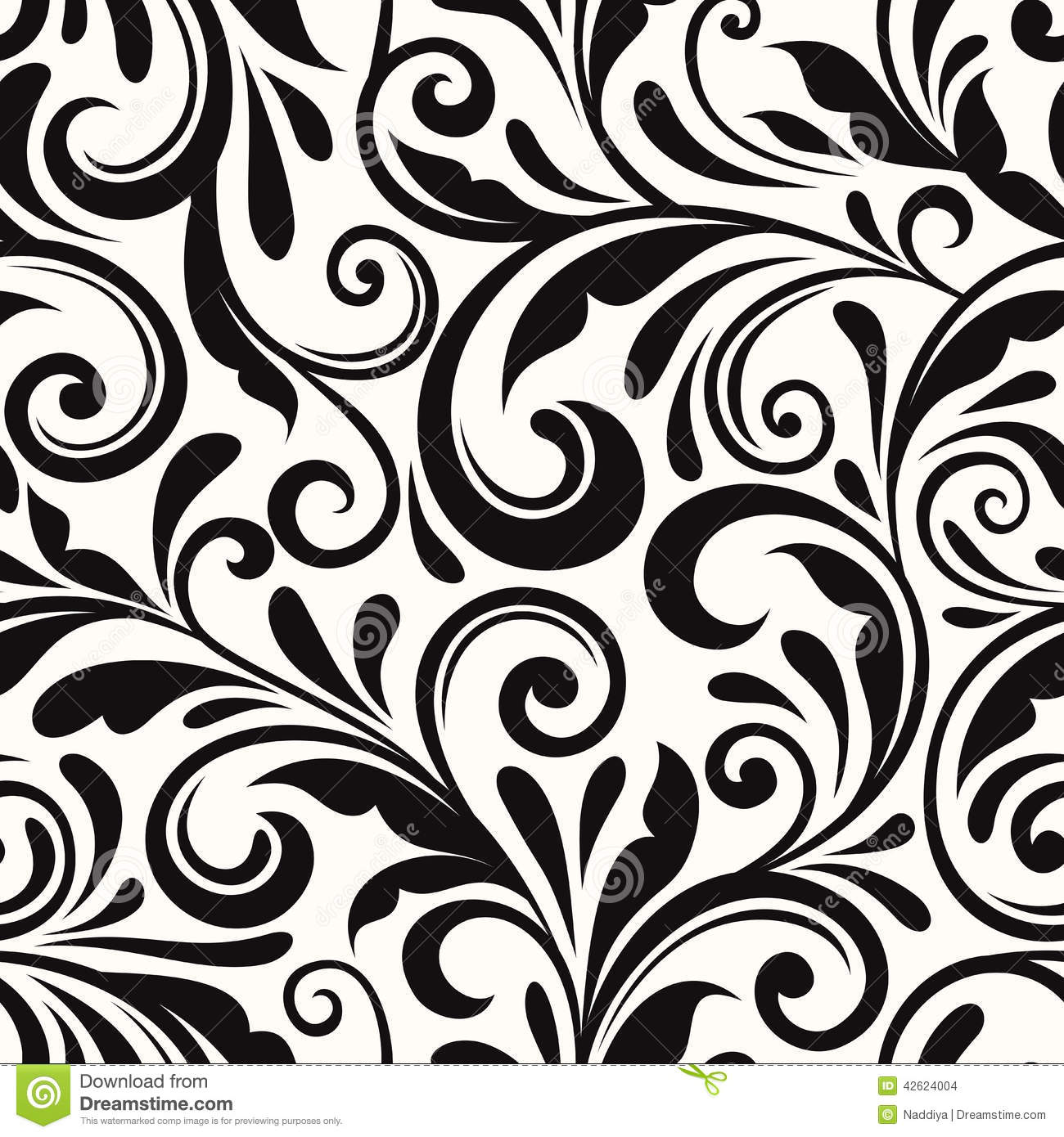 Vintage Seamless Floral Pattern Vector Illustration Stock Vector