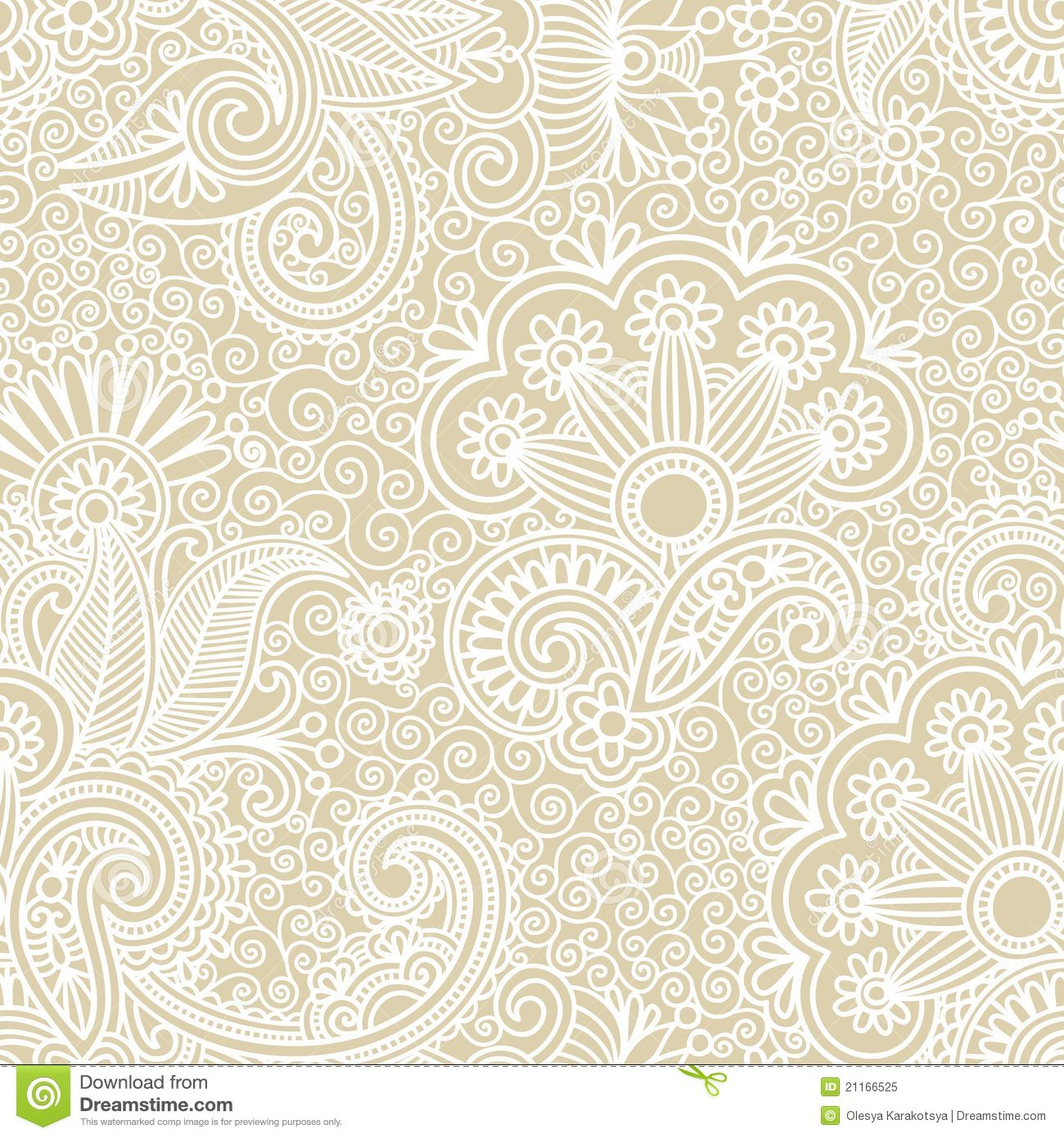 Vintage Seamless Pattern Stock Vector Illustration Of