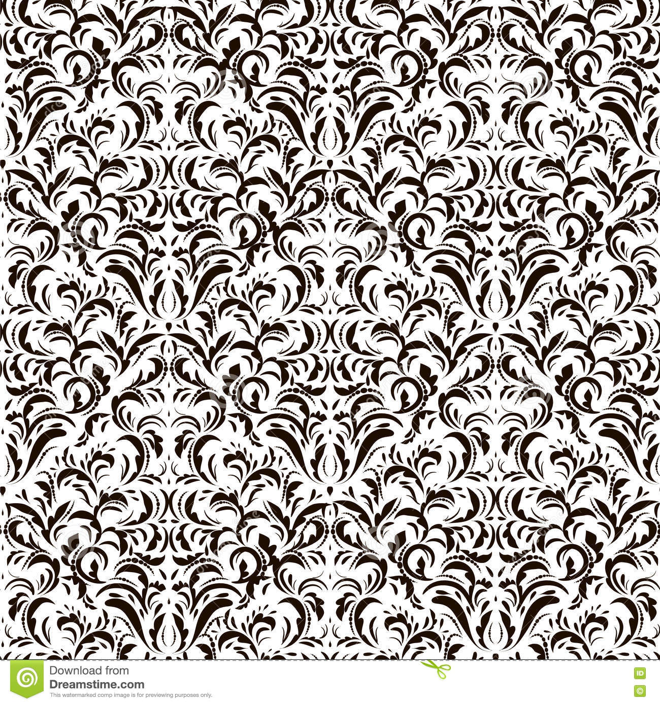 Vintage Seamless Pattern On White Background Stock Vector ...