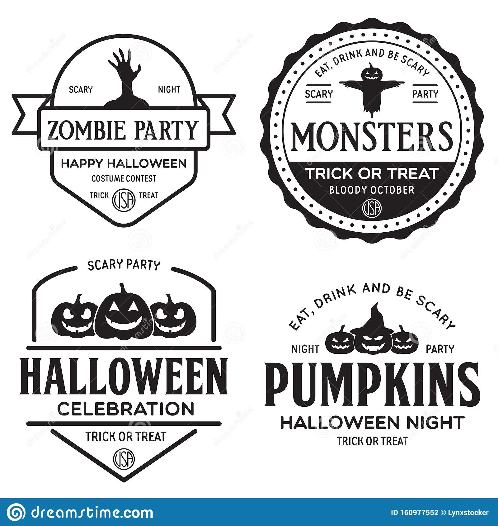 Trick or Treat-Vintage Style Tags Halloween Tags
