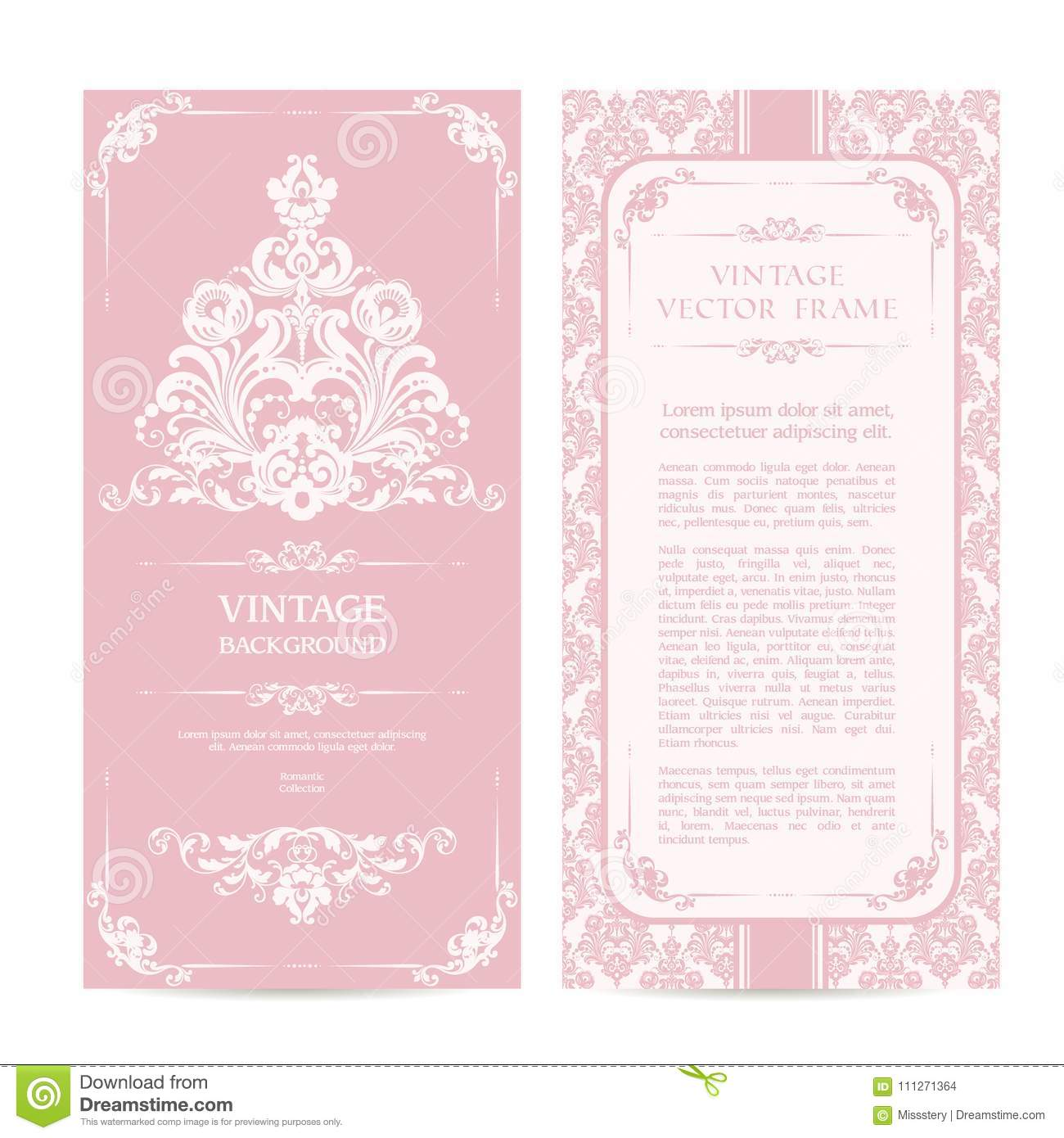 Vintage Set Of Template Ornamental Borders And Patterned