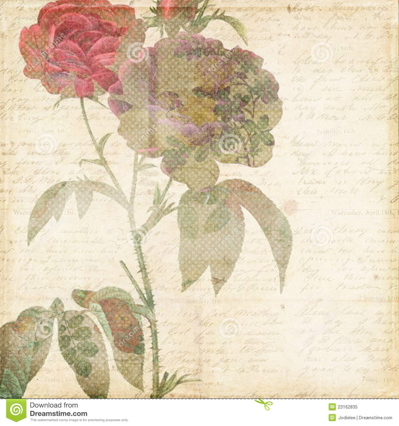 Vintage shabby chic background with flowers stock image for Chic vintage