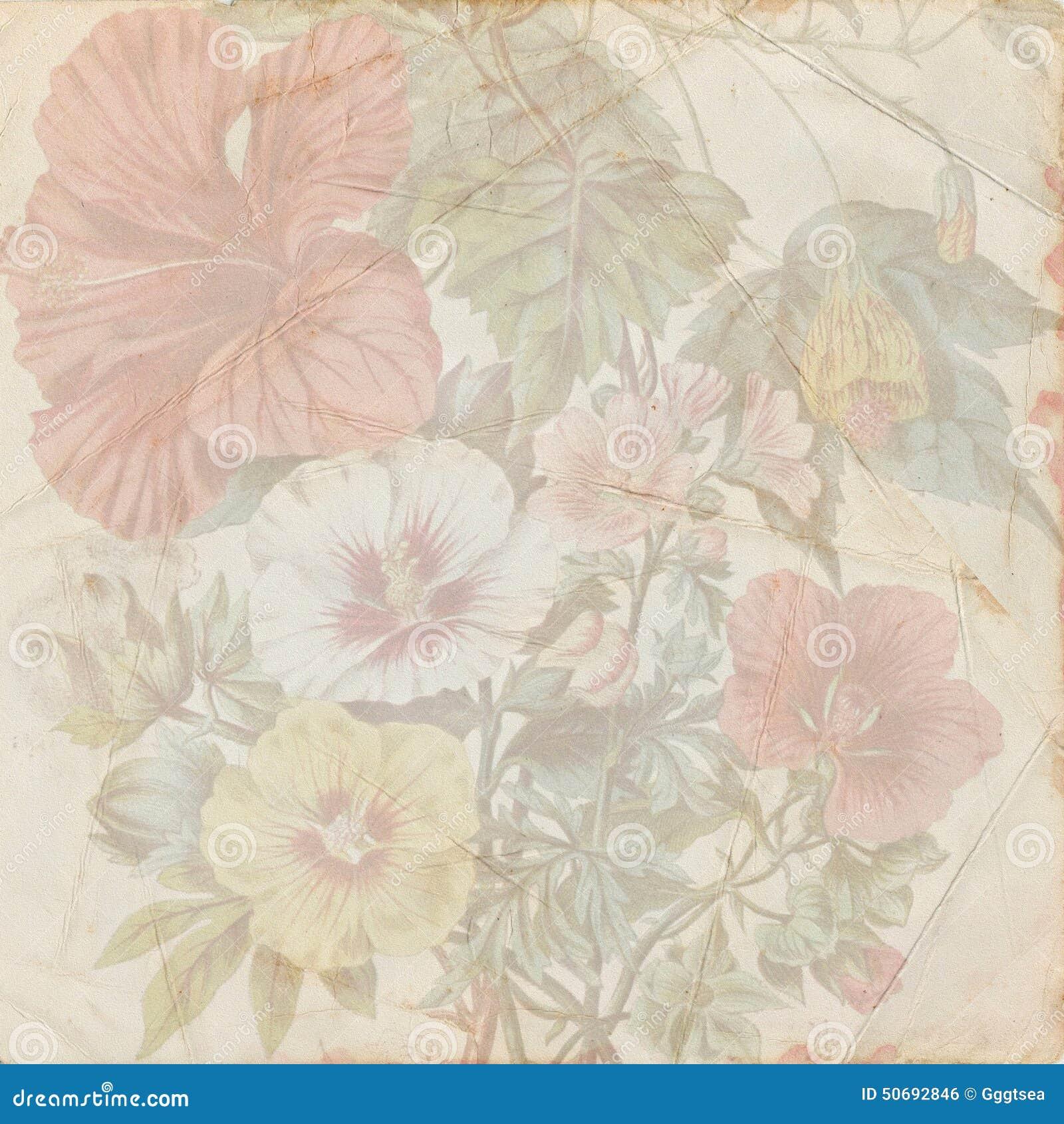 Vintage shabby flower paper texture stock illustration vintage shabby flower paper texture mightylinksfo