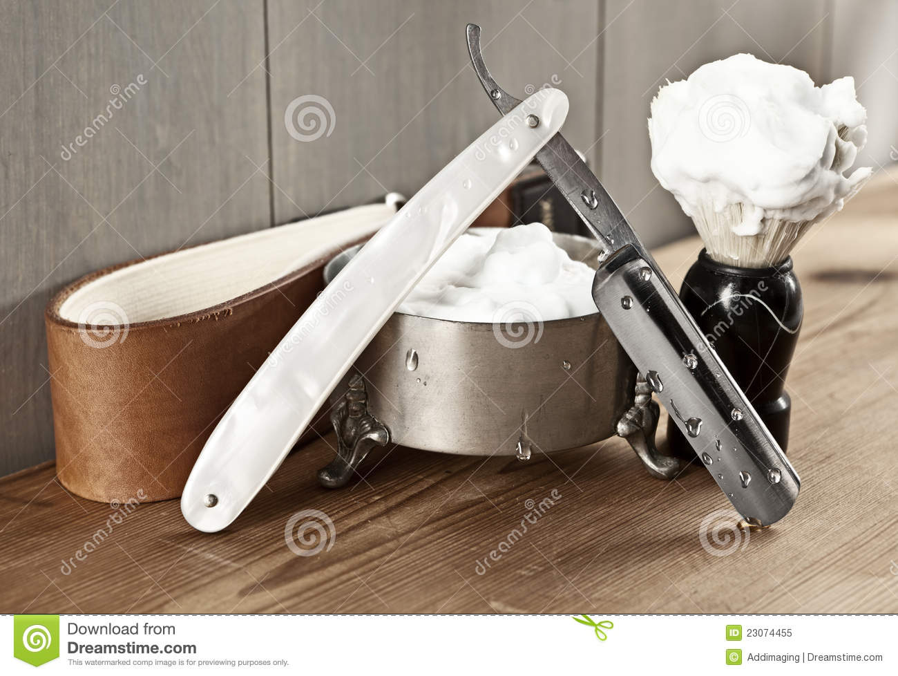 factory price great deals 2017 good selling Vintage shaving kit stock image. Image of brush, hair - 23074455