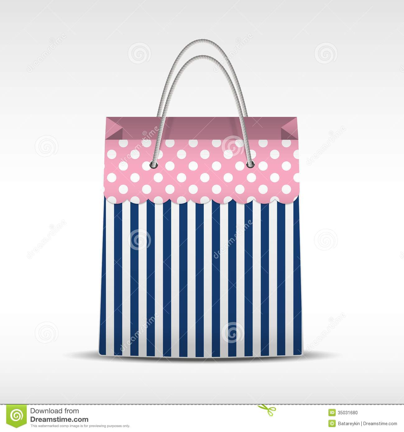 Vintage Shopping Bag In Stripes Texture Stock Photo ...