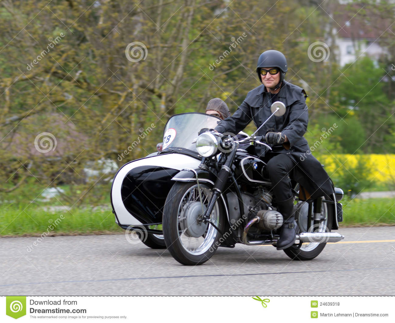 Vintage Sidecar Motorbike Bmw R 51 3 From 1954 Editorial Stock Photo Image 24639318