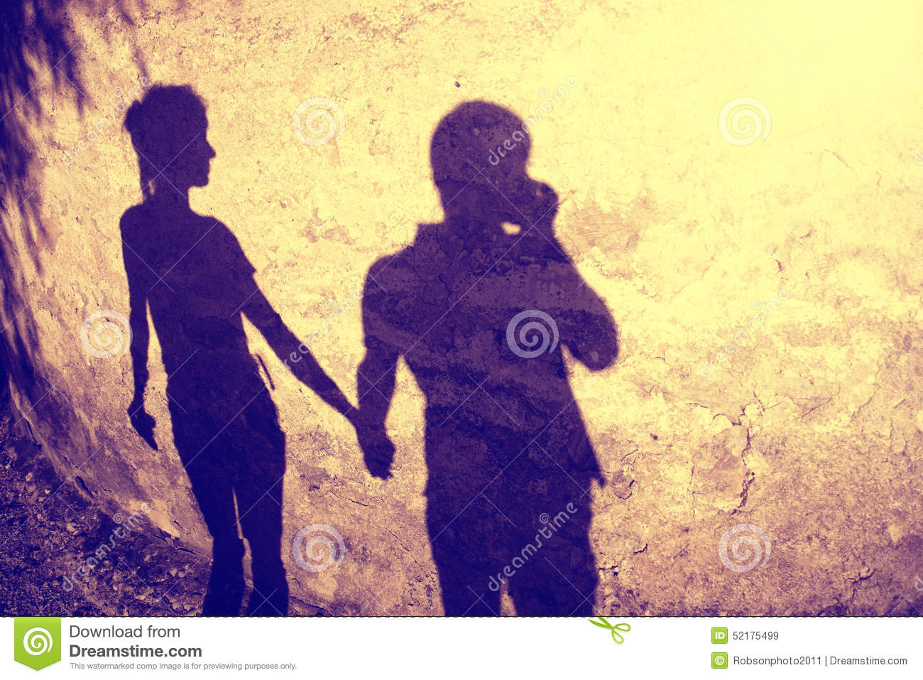 Vintage Silhouette Of Two People Holding Hands Stock Image - Image ... 072b885c3f