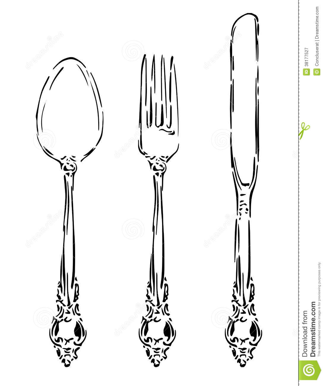 Vintage Silverware Stock Vector Illustration Of Silver