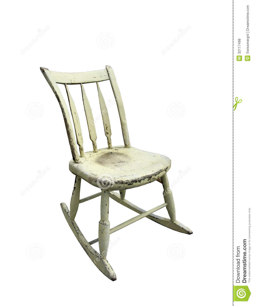 Vintage Small Rocking Chair Royalty Free Stock Photos