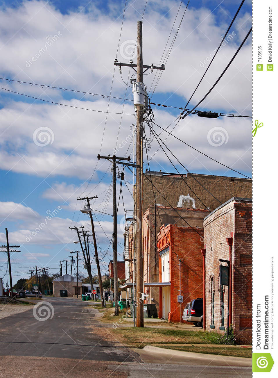 Vintage Small Town Stock Image Image Of Village Stores