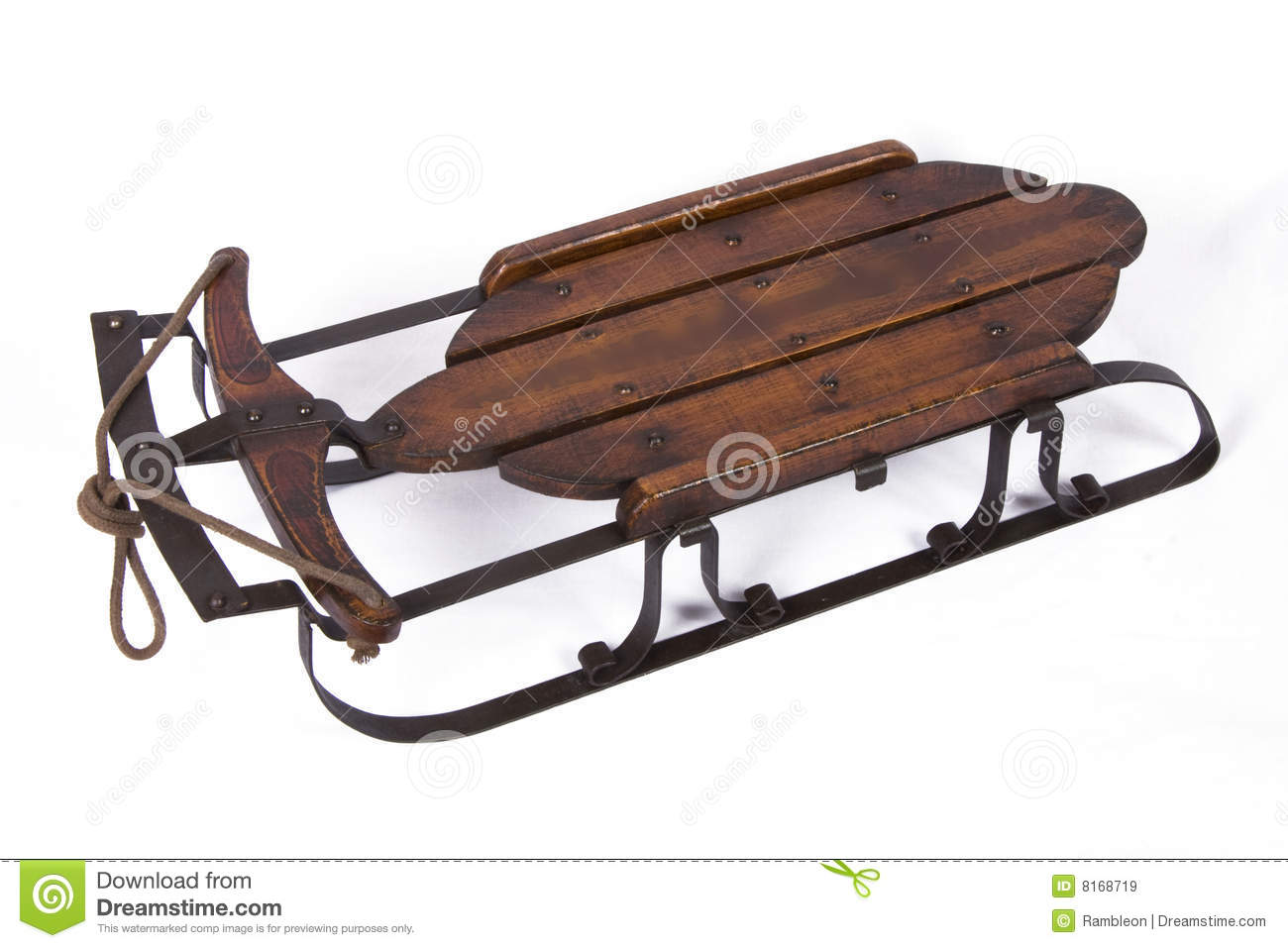 Vintage Snow Sled Royalty Free Stock Images - Image: 8168719