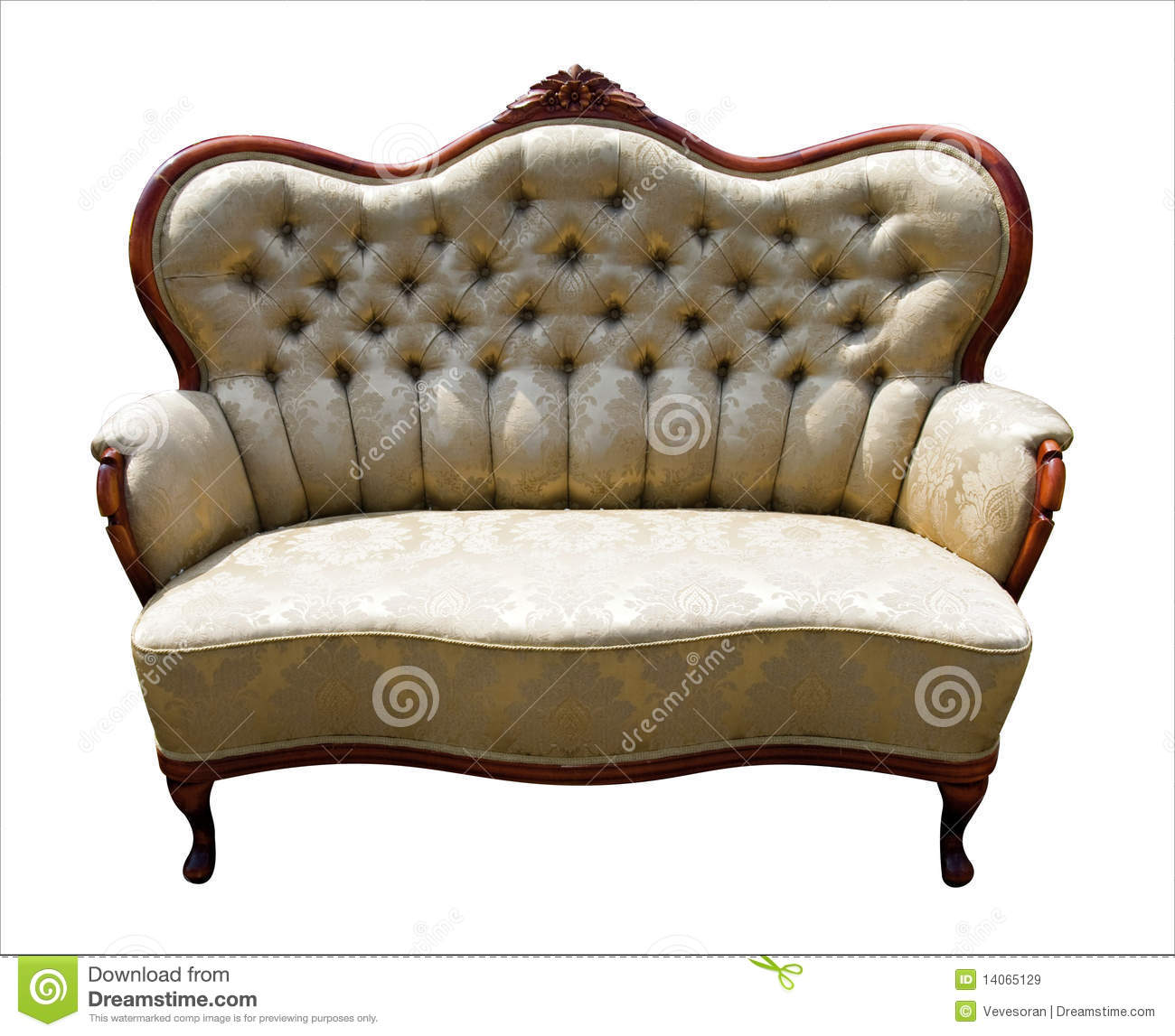 Vintage Sofa Royalty Free Stock Images