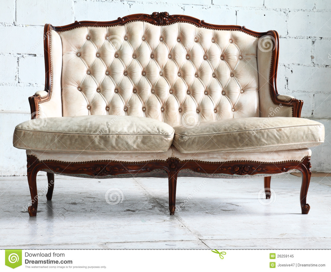 vintage sofa in the room royalty free stock photo image 26259145. Black Bedroom Furniture Sets. Home Design Ideas