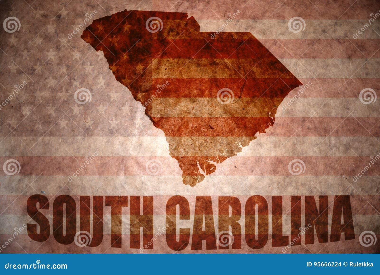 Vintage South Carolina Map.Vintage South Carolina Map Stock Photo Image Of Carolina 95666224