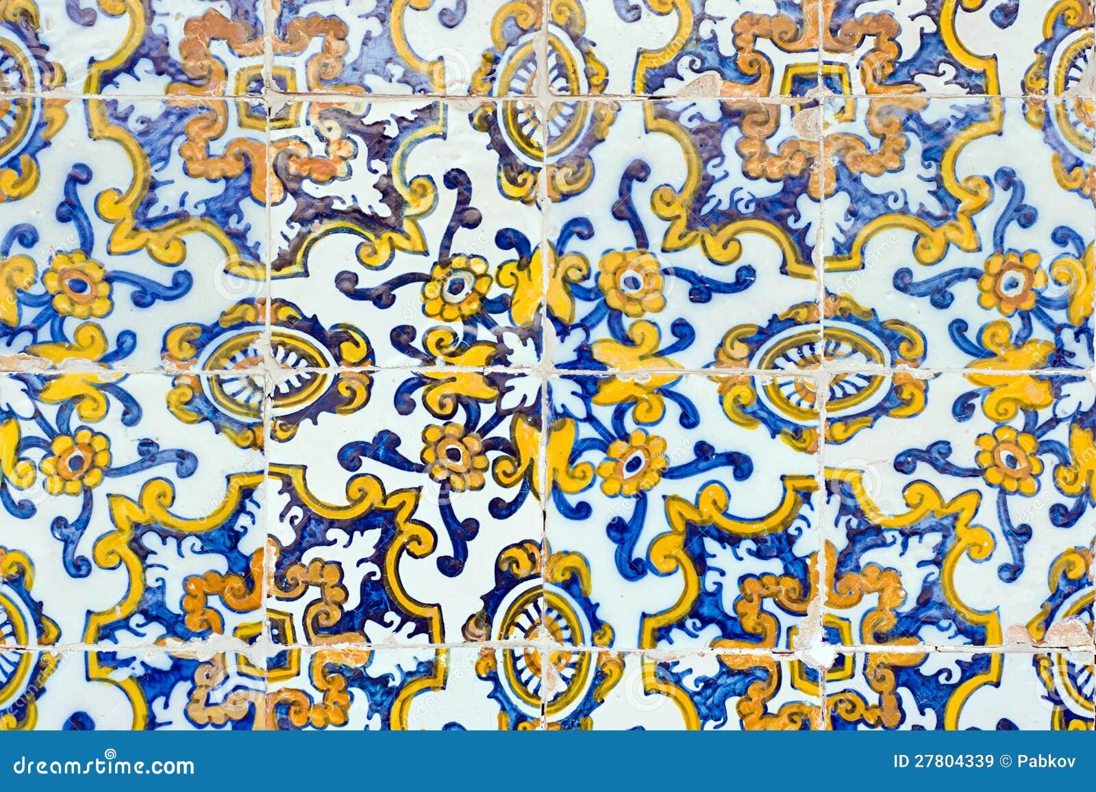 Vintage Spanish Style Ceramic Tiles Stock Image Image